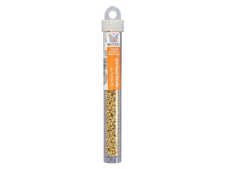 Miyuki 8/0 Round Seed Beads - Galvanized Gold 22g Vial