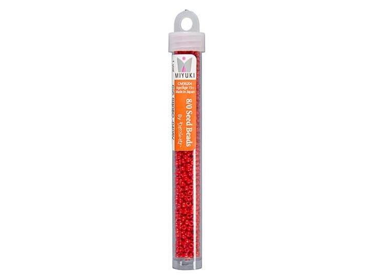 Miyuki 8/0 Round Seed Beads - Opaque Red 22g Vial