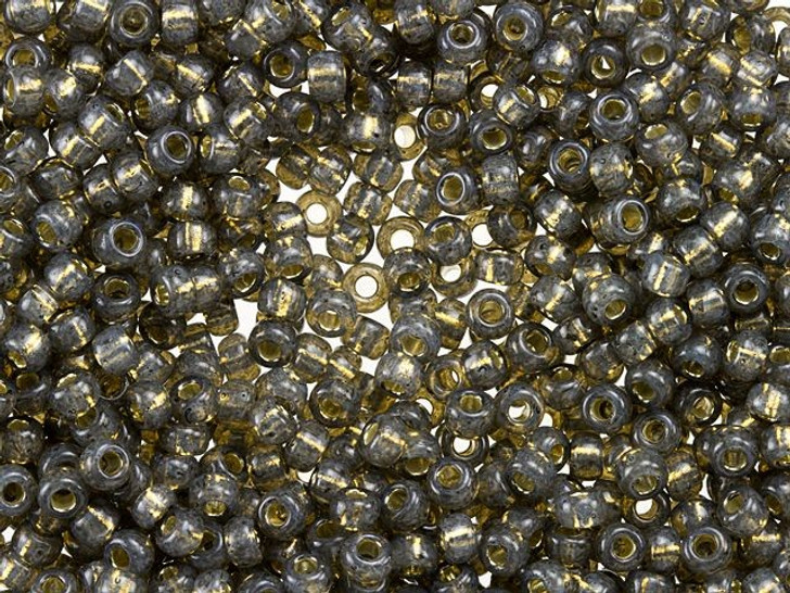 Miyuki 8/0 Round Seed Beads - Silver-Lined Dark Gray Alabaster 22g Vial