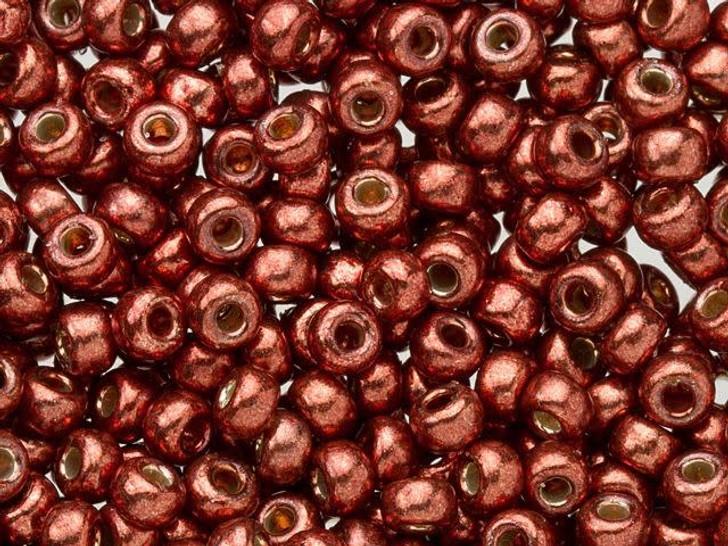 Miyuki 8/0 Round Seed Beads - Duracoat Galvanized Dark Berry 2.5-Inch Tube