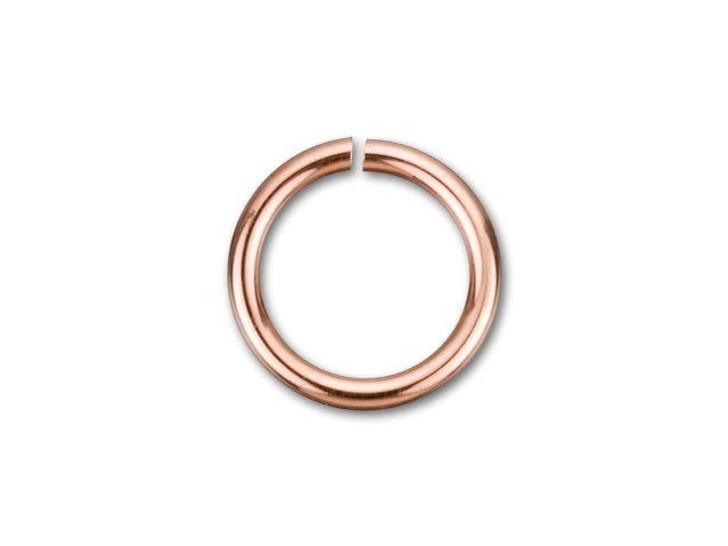 Rose Gold-Filled 14K/20 5mm Open Jump Ring 22 Gauge
