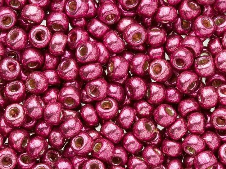 Miyuki 8/0 Round Seed Beads - Duracoat Galvanized Magenta 2.5-Inch Tube