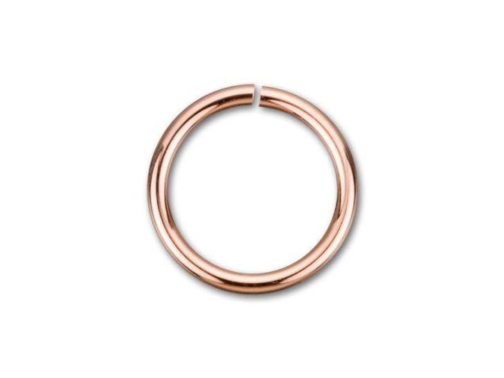 Rose Gold-Filled 14K/20 6mm Open Jump Ring 22 Gauge