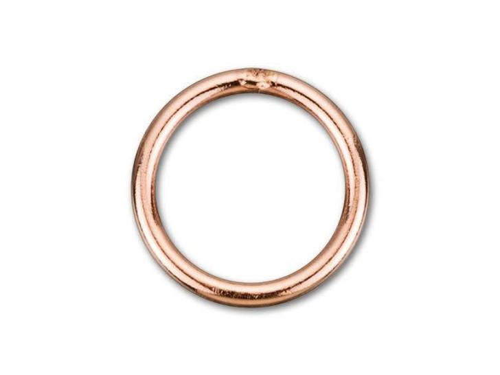 Rose Gold-Filled 14K/20 7mm Closed Jump Ring 20 Gauge