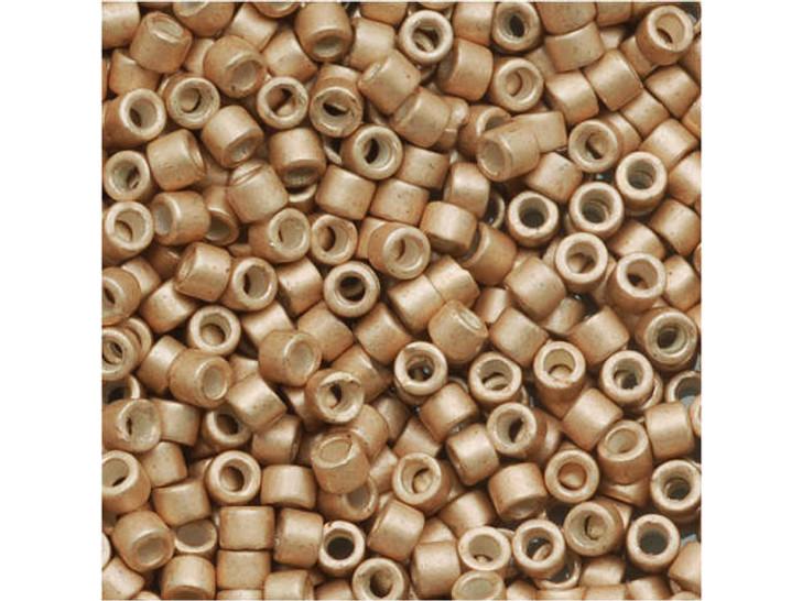 Miyuki 11/0 Galvanized Semi-Matte Champagne Delica Seed Beads 2.5-Inch Tube
