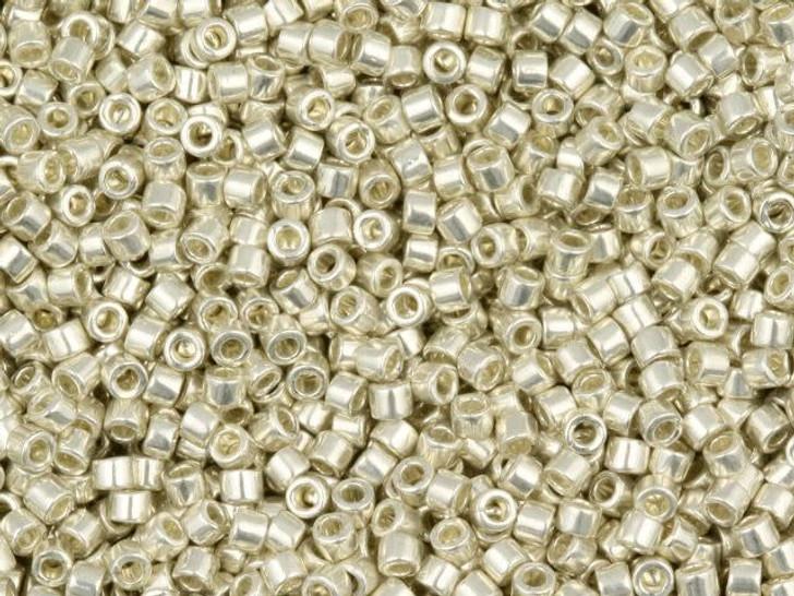 Miyuki 8g 11/0 Metallic Galvanized Silver Delicas
