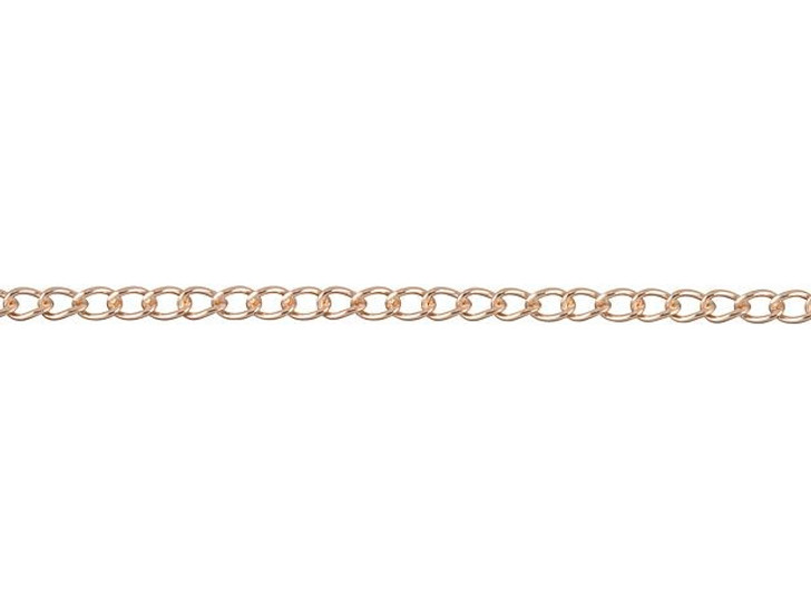 Rose Gold-Filled 14K/20 Curb Chain by the foot