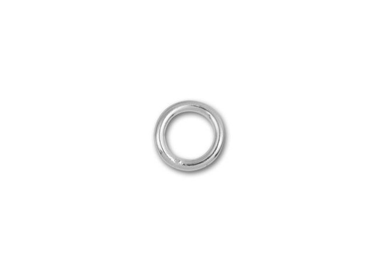 6mm Silver-Plated Closed Jump Ring