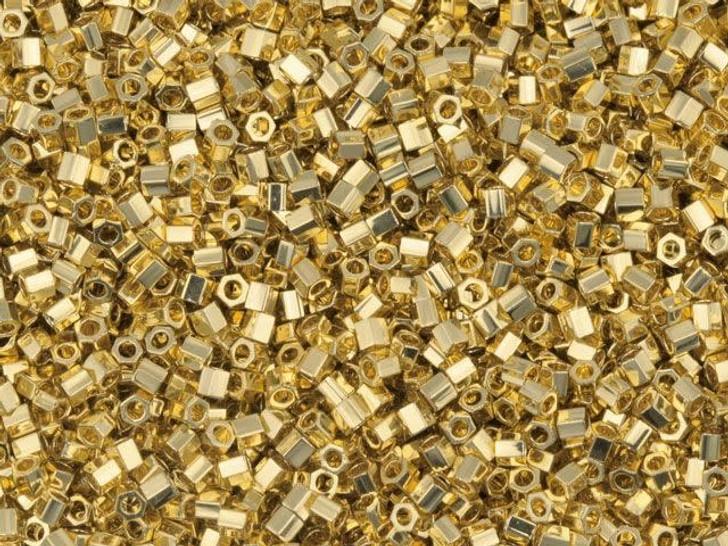 Miyuki 8g 15/0 Metallic 24 Karat Gold-Plated Hex Cut
