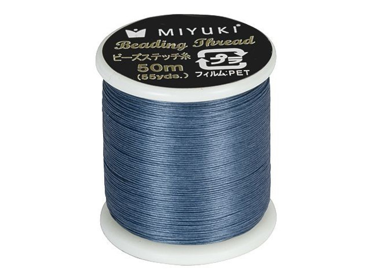 Miyuki Nylon Beading Thread B, Dark Blue (50 meter spool)