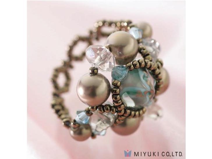 Miyuki Smoky Sapphire Ring Kit