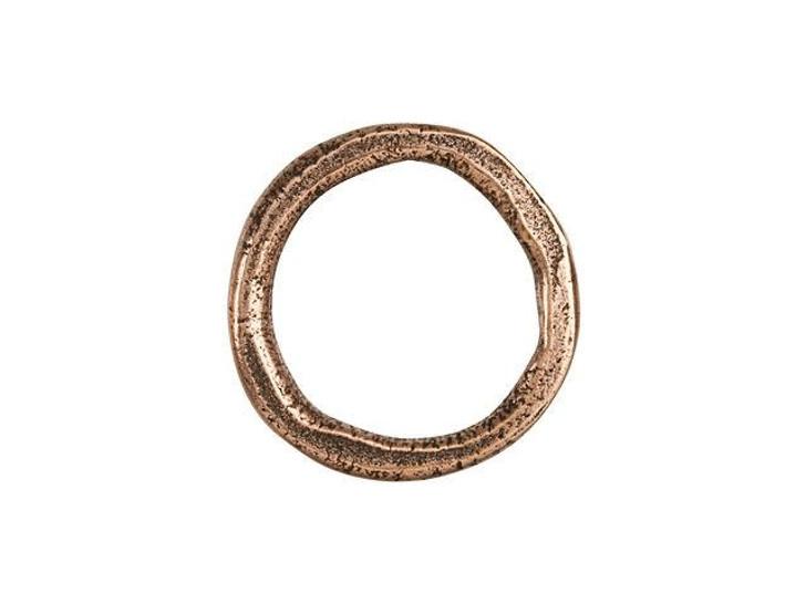 Nunn Design Antique Copper-Plated Brass Large Organic Hoop