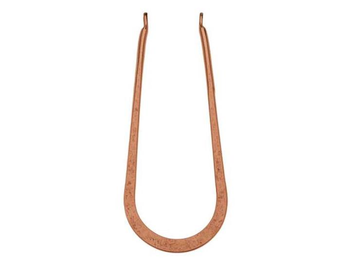 Nunn Design Antique Copper-Plated Brass Long Open Horseshoe Wire Frame Pendant