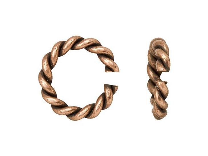 Nunn Design Antique Copper-Plated Brass Mini Rope Jump Ring