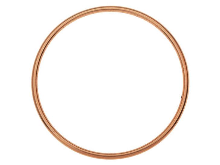Nunn Design Antique Copper-Plated Brass Open Frame Hoop Grande