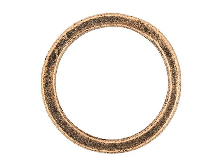 Nunn Design Antique Copper-Plated Pewter Small Flat Circle Hoop