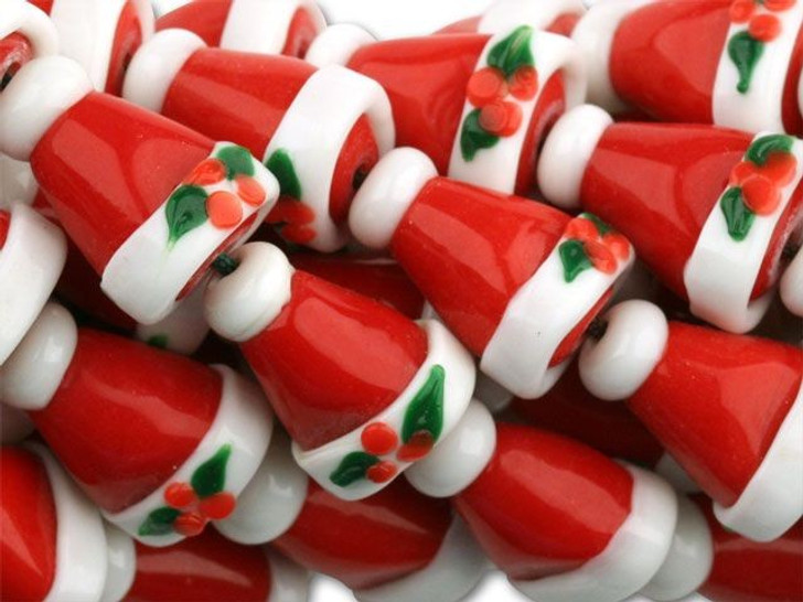 16-19x13mm Holiday Hats Strand