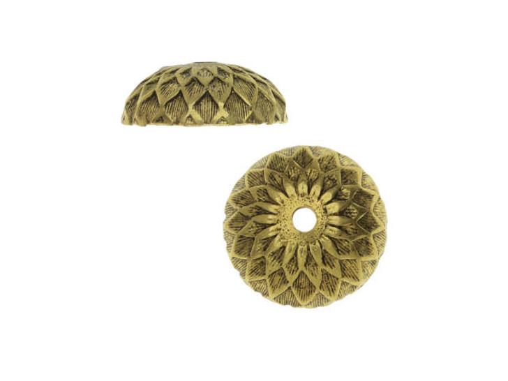 Nunn Design Antique Gold-Plated Brass 11.5mm Acorn Bead Cap