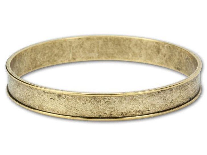 Nunn Design Antique Gold-Plated Brass Channel Bangle Bracelet