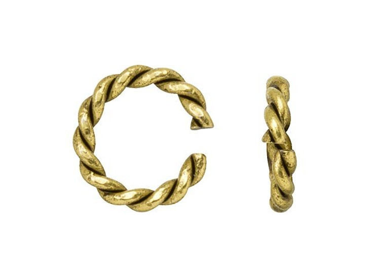 Nunn Design Antique Gold-Plated Brass Mini Rope Jump Ring