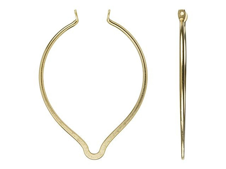 Nunn Design Antique Gold-Plated Brass Open Oval Point Wire Frame