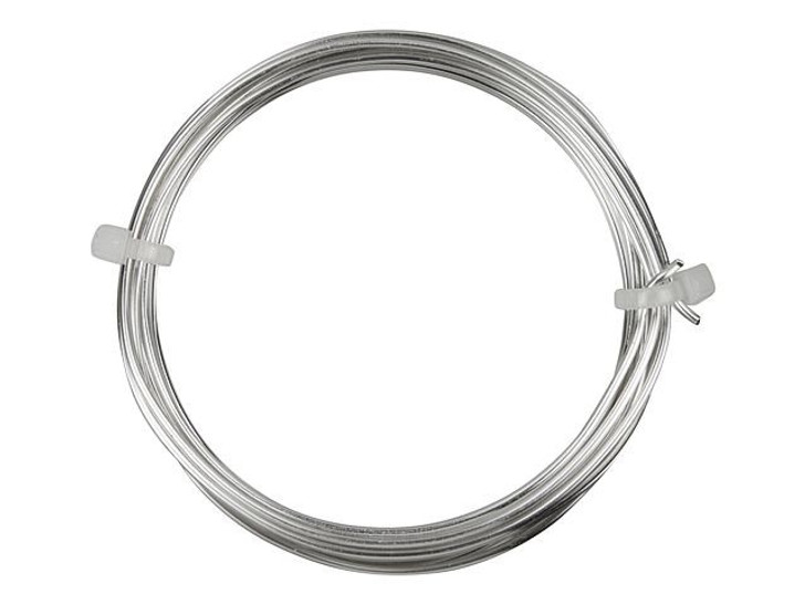 16-Gauge Silver Tarnish-Resistant Artistic Wire, 10 Feet
