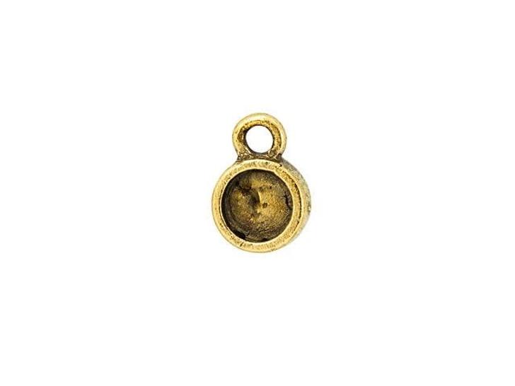 Nunn Design Antique Gold-Plated Pewter Bitsy Circle Bezel Charm