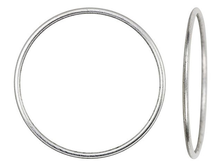 Nunn Design Antique Silver-Plated Brass Open Frame Hoop Grande