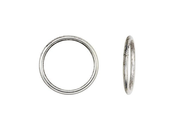 Nunn Design Antique Silver-Plated Brass Open Frame Hoop Small