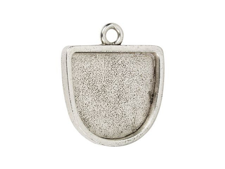 Nunn Design Antique Silver-Plated Pewter Half Oval Grande Pendant