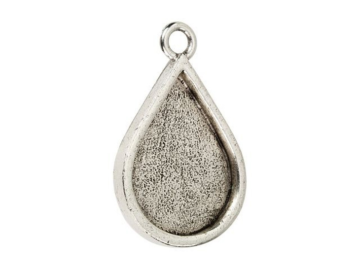 Nunn Design Antique Silver-Plated Pewter Teardrop Grande Pendant