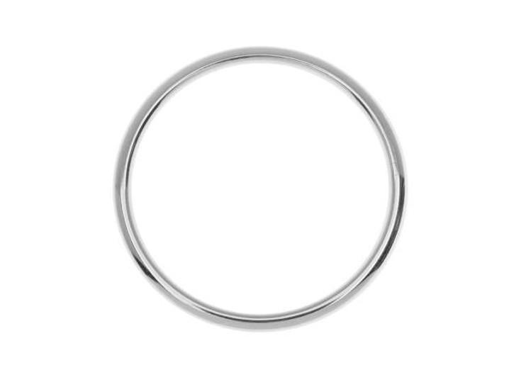 Nunn Design Silver-Plated Brass Open Frame Hoop Large