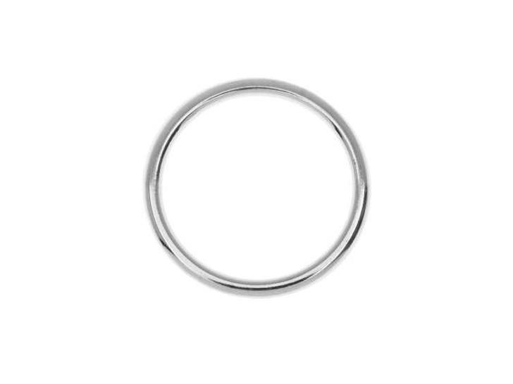 Nunn Design Silver-Plated Brass Open Frame Hoop Small