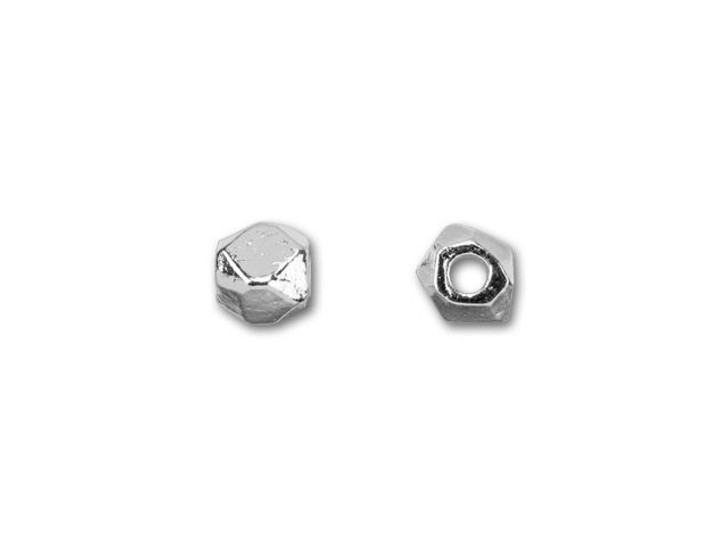Nunn Design Silver-Plated Pewter Faceted 6mm Round Bead