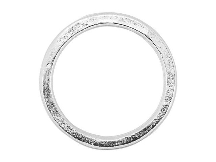 Nunn Design Silver-Plated Pewter Small Flat Circle Hoop