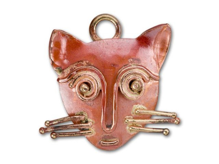 Patricia Healey Copper Cat Charm