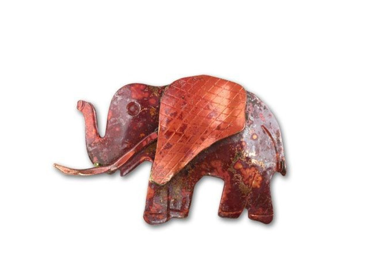 Patricia Healey Copper Elephant Pendant