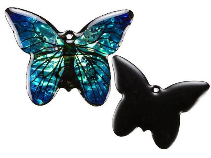 Paua Large Butterfly Pendant