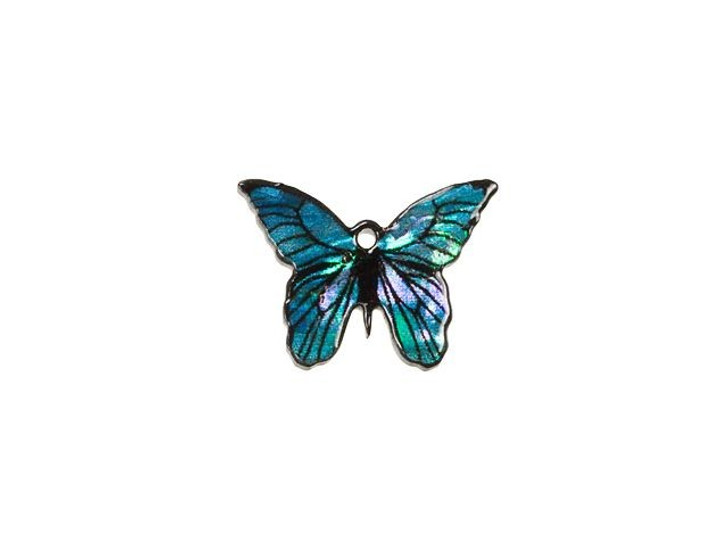 Paua Small Butterfly Charm