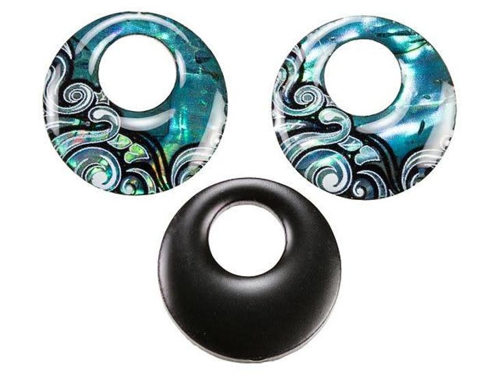 Paua Wave Design Donut Charm