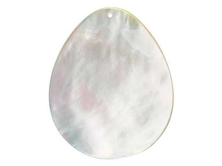 Peacock in Garden Mother of Pearl Pendant