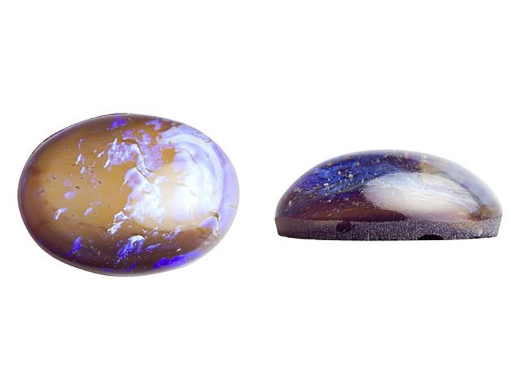 Preciosa Czech Glass Opal Tanzanite Oval Cabochon