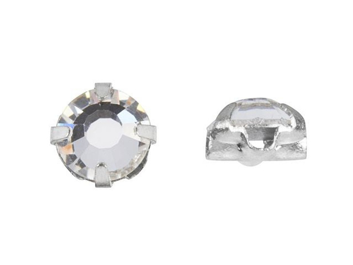 Preciosa Rose Montee SS20 Crystal, Silver-Plated (24pc pack)