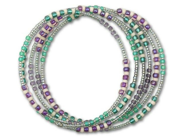 Purple, Silver, and Aqua Boho Bangle Kit