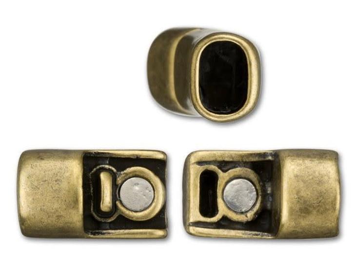 Regaliz 10x31mm Antique Brass-Plated Magnetic Clasp Set