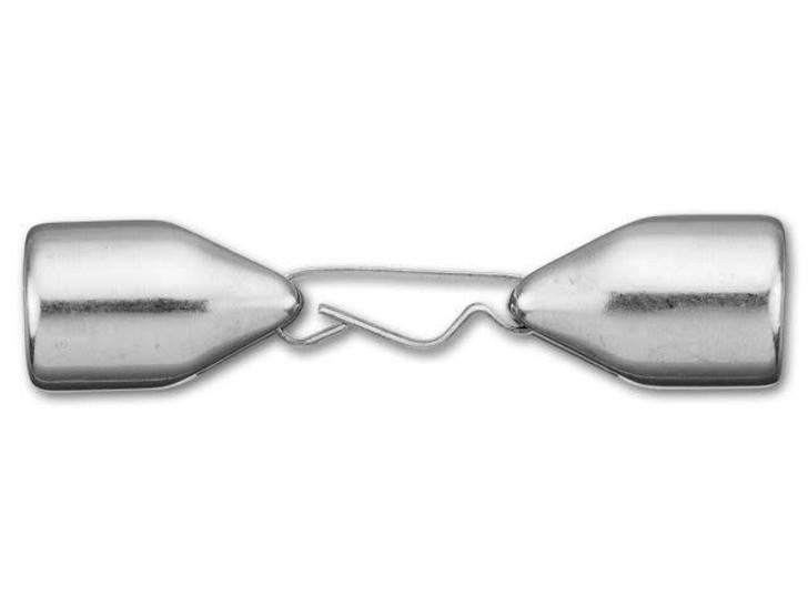 Regaliz 10x7mm Antique Silver-Plated Clasp Set