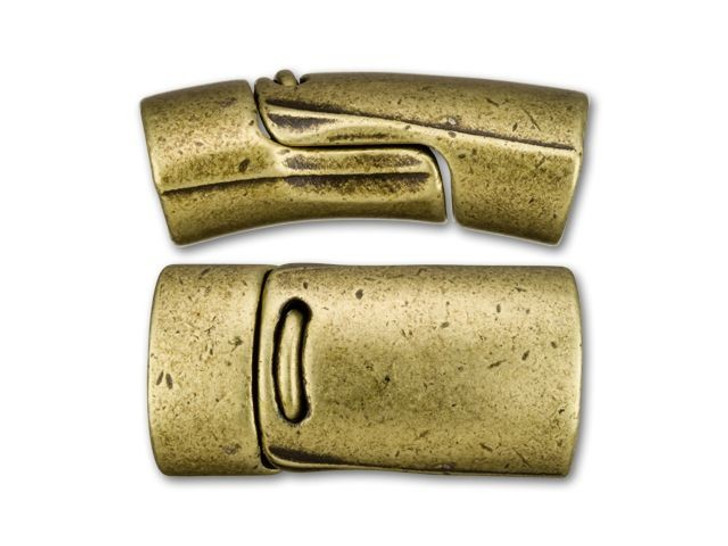 Regaliz 13x25mm Antique Brass-Plated Magnetic Clasp Set