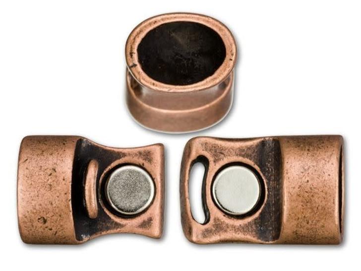 Regaliz 13x25mm Antique Copper-Plated Magnetic Clasp Set