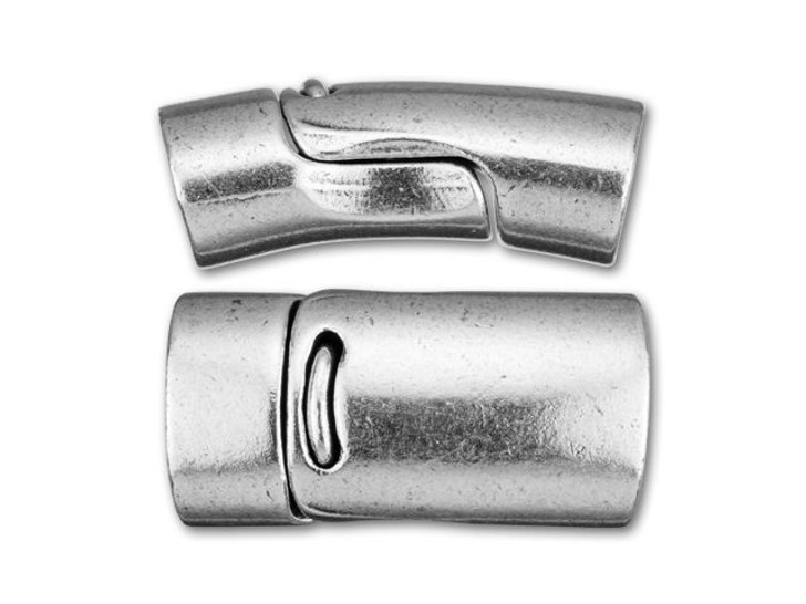 Regaliz 13x25mm Antique Silver-Plated Magnetic Clasp Set