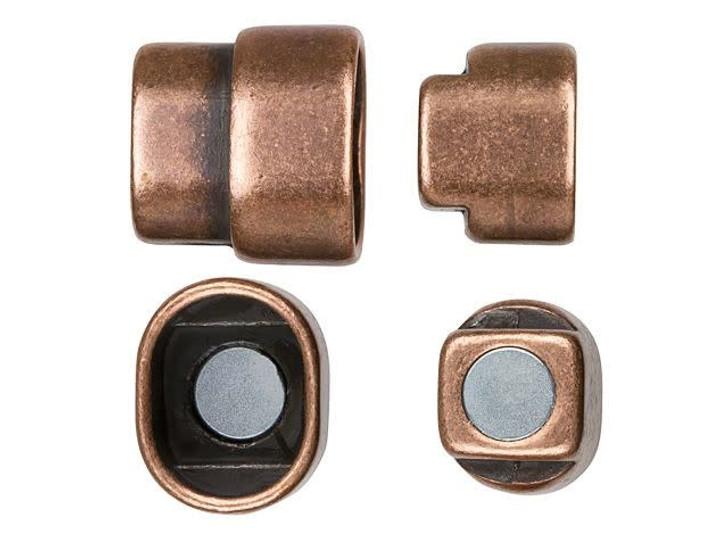 Regaliz 18x10x14mm Antique Copper-Plated Magnetic Clasp Set